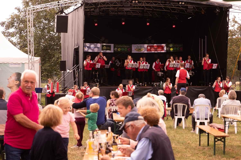 Blasorchester Everswinkel auf den  Kulturwiesen 2020 beim ersten Wettendorfer Picknick.