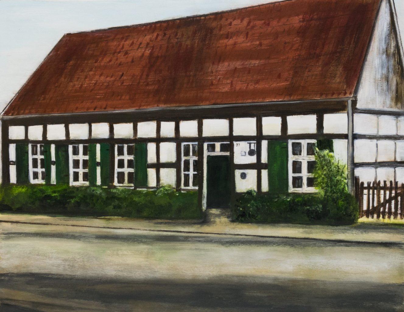 Gemälde des Gallitzin-Hauses. Von Uschi Dillmann.