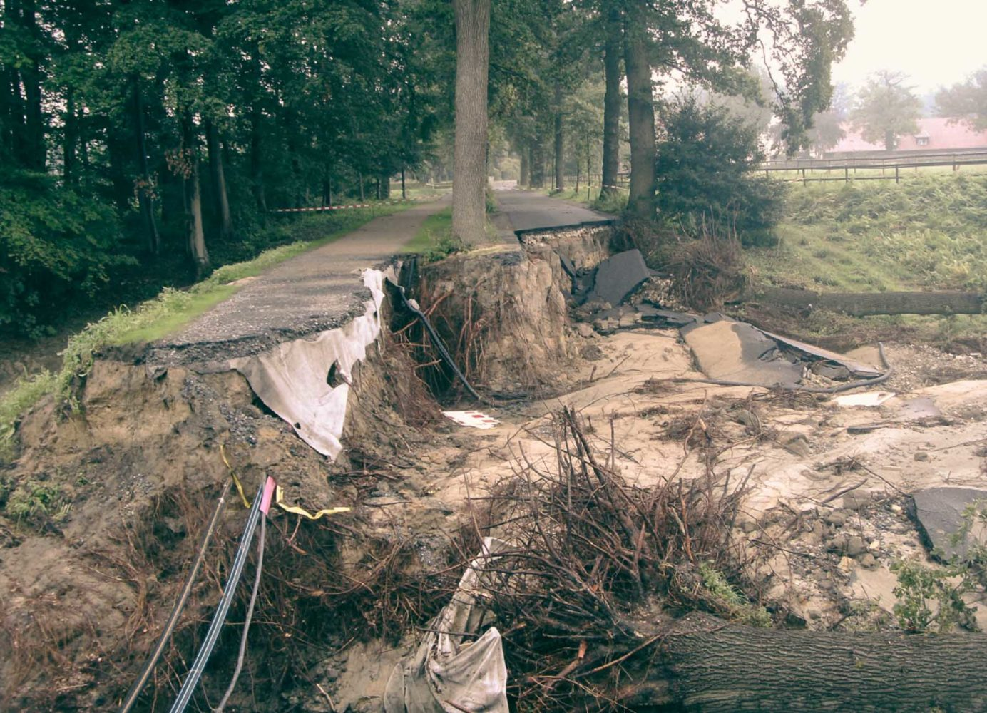 Hochwasser Edelbach Haus Havichhorst 2014