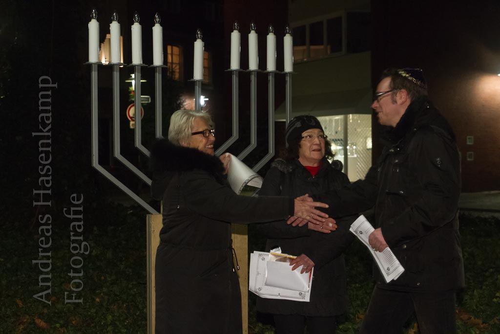 Chanukka an Heiligabend Treffen mit Gesellschaft für Christlich-Jüdische Zusammenarbeit Münster
