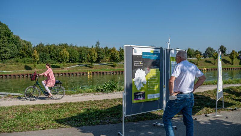 Bei Amelsbüren beginnen in der kommenden Woche die Asphaltarbeiten auf der Kanalpromenade.Foto: Stadt Münster, Michael C. Möller.