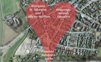 Die Bewohnerinnen und Bewohner von Amelsbüren sind aufgerufen, ihre Ideen zur Gestaltung einer lebendigen Mitte des Stadtteils  einzubringen. Foto: Stadt Münster.