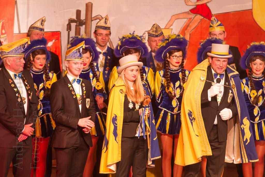 Hippenmajor und Jugendhippenmajorin bei der Gala der Provinzler in der Friedenskapelle in Münster. Foto: A. Hasenkamp, Fotograf in Münster.