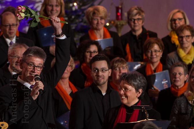 Weihnachtskonzert in St. Bernhard, Angelmodde, mit dem Chor ConTakt aus Drensteinfurt. Foto: A. Hasenkamp, Fotograf in Münster.