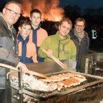Osterfeuer in Angelmodde 2018 gut besucht 15