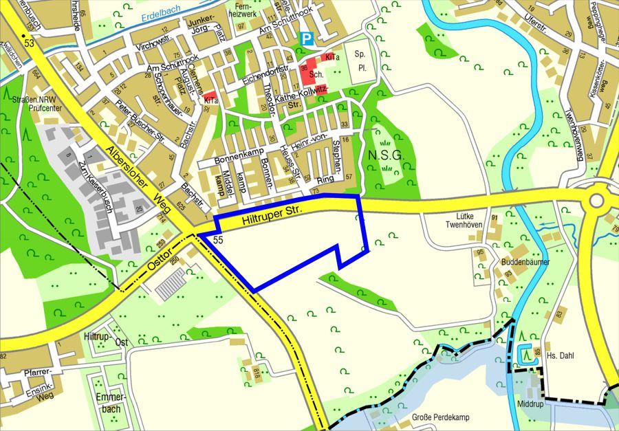Bebauungsplan für das Wohngebiet in Angelmodde-Süd südlich der Hiltruper Straße und östlich des Albersloher Weges