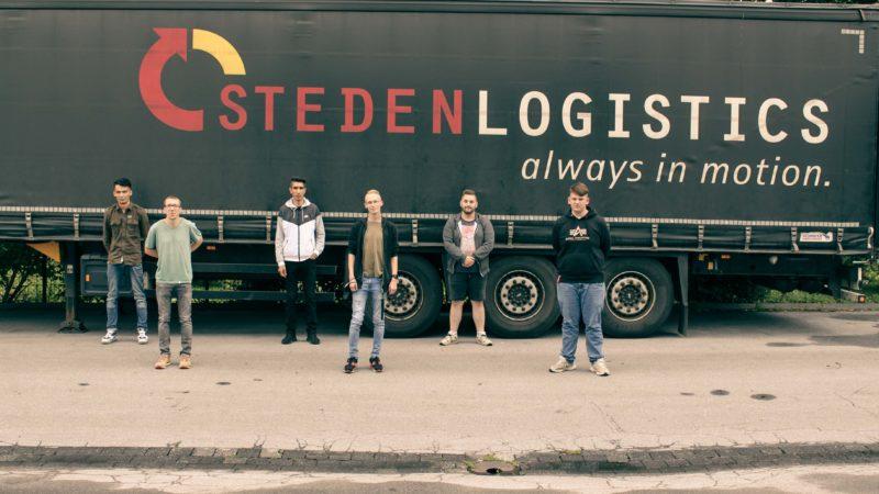 Die Steden Logistik GmbH aus Unna begrüßt sechs neue Auszubildende. (Foto: Steden)