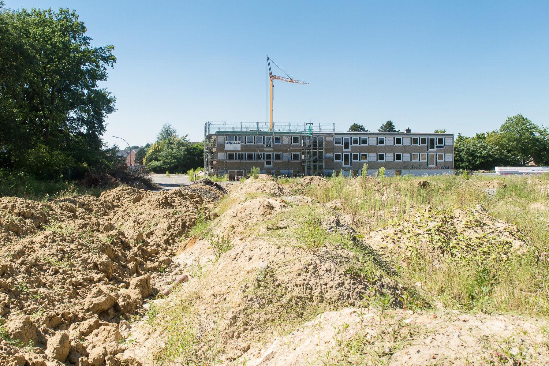 Neubau-Gebiet Lancier in Münster-Wolbeck im Juli 2016.