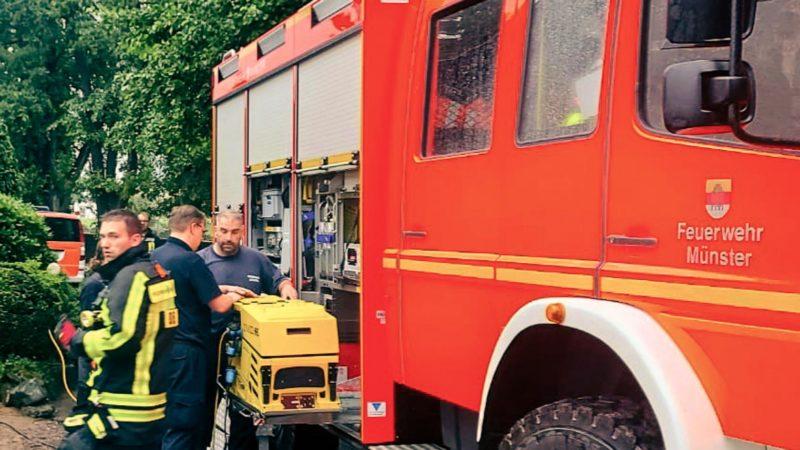 Feuerwehr Münster im Einsatz in Aachen.