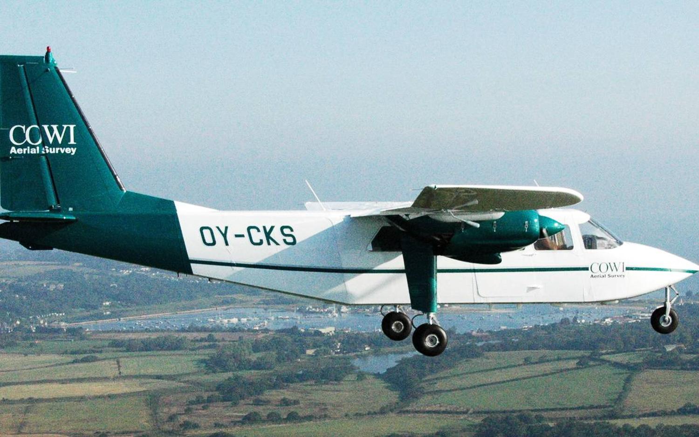 Thermografie-Flugzeug soll auch über Münster fliegen. Aufnahme: COWI AS
