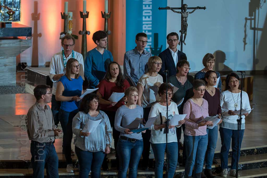 Projektchor des St. Rochus-Hospitals Telgte beim Katholikentag in Münster 9