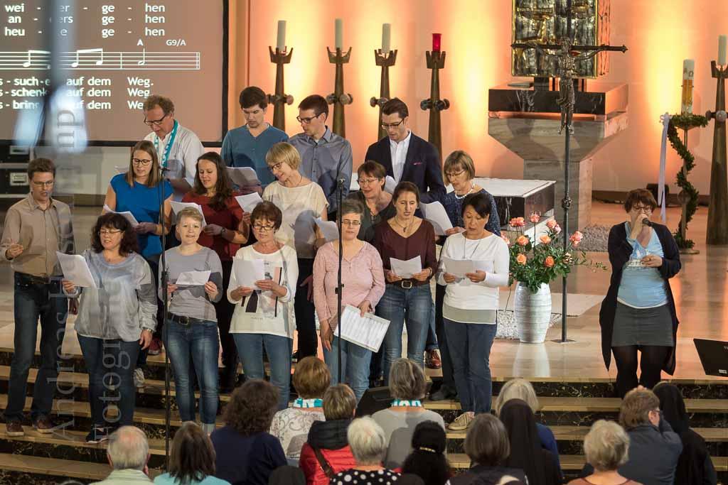 Projektchor des St. Rochus-Hospitals Telgte beim Katholikentag in Münster 2