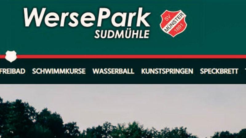 Screenshot vom Freibad Sudmühlle bzw. der Website des Vereins schwimmvereinigung.de