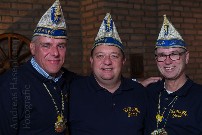 Die Gardisten Holger Narup, Martin Graß und Ulrich Fischer. Foto: A. Hasenkamp, Fotograf in Münster.