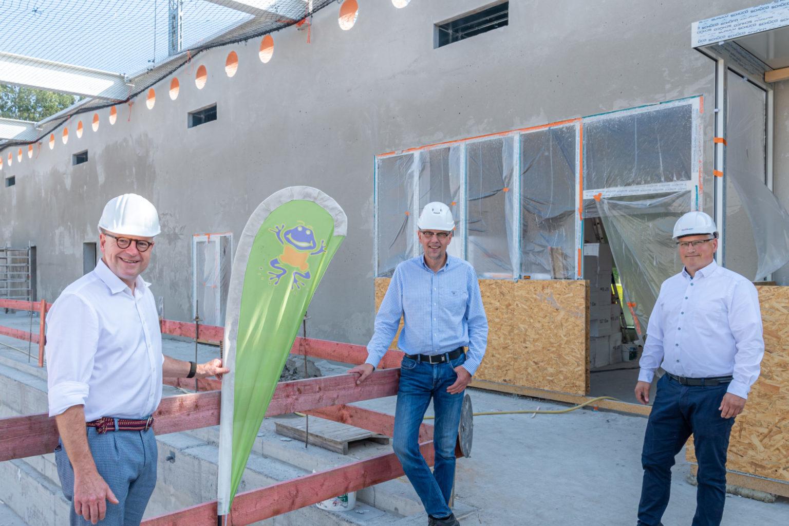 Alles läuft nach Plan beim zügigen Baufortschritt des Bürgerbads Handorf