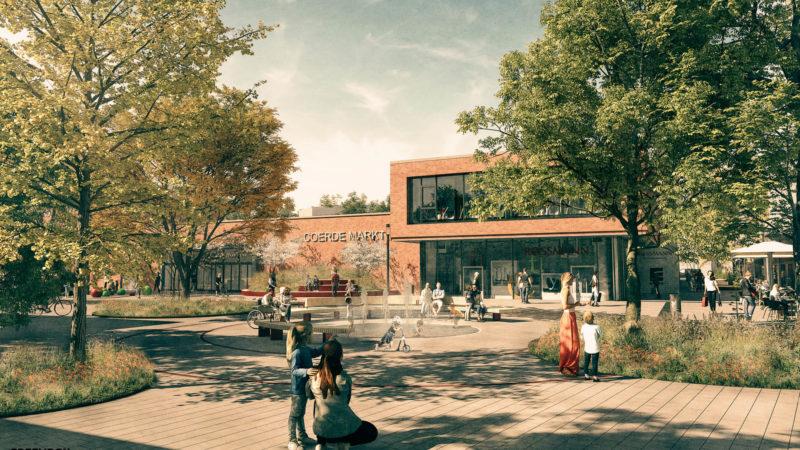 Skizze: Perspektive Hamannplatz, Greenbox Landschaftsarchitekten.