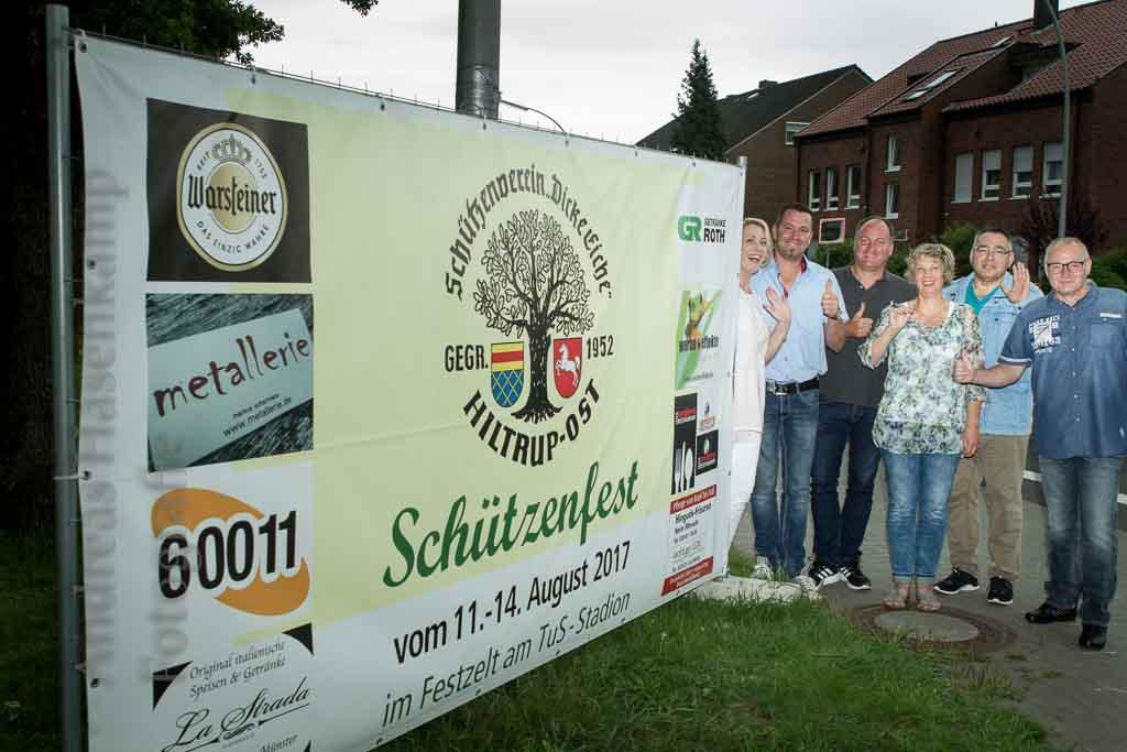 Ein Schützenfest für ganz Hiltrup Dicke Eiche Hiltrup-Ost mit neuen Sponsoren für Schützenfest-Banner