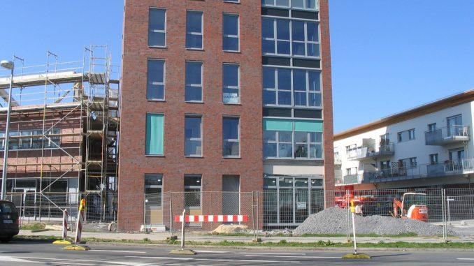 Baustelle an der Meesenstiege 2005.