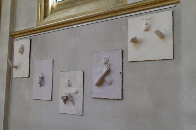 Exponat der Ausstellung Hiltruper Schüler in St. Josef 2015. Foto: A. Hasenkamp.