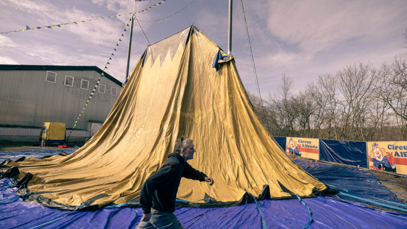 Circus- und Artistik-Centrum Hiltrup: Zelt aufgebaut