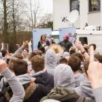 Tag X an Hiltrups Gymnasien: Mit Radio am KvG, mit vollem Mund am Kant