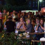 Weinfest 2015 in Hiltrup: Ambiente an der Kirche St. Clemens