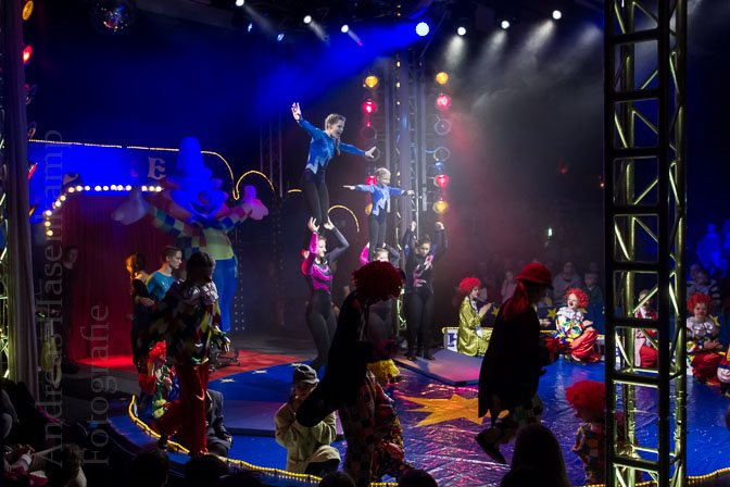 Premieren-Vorstellung 2015 des Weihnachtscircus Hiltrup. Foto: anh.