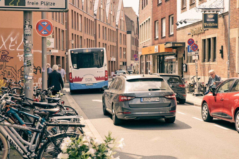 Die Hörsterstraße ist bis Ende September 2021 vom Durchgangsverkehr befreit.