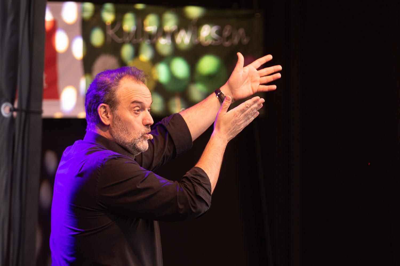 Kabarettist René Steinberg auf den Kulturwiesen