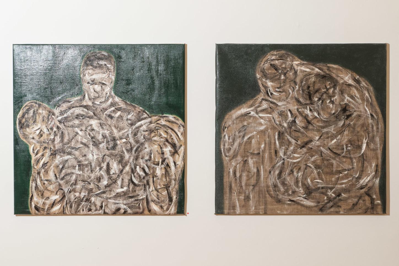 """Exponate von Mark Stevens (Australien) in der Ausstellung """"In der Meeresweite meiner Seele ..."""" im Kunsthaus Kannen im Oktober 2020. Foto: A. Hasenkamp, Fotograf in Münster."""