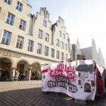 """""""Wem gehört die Stadt?"""" - Demonstranten fordern """"Soziales Zentrum"""""""