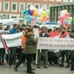"""Demonstration von Irakern in Münster gegen """"Massaker"""" im Irak"""