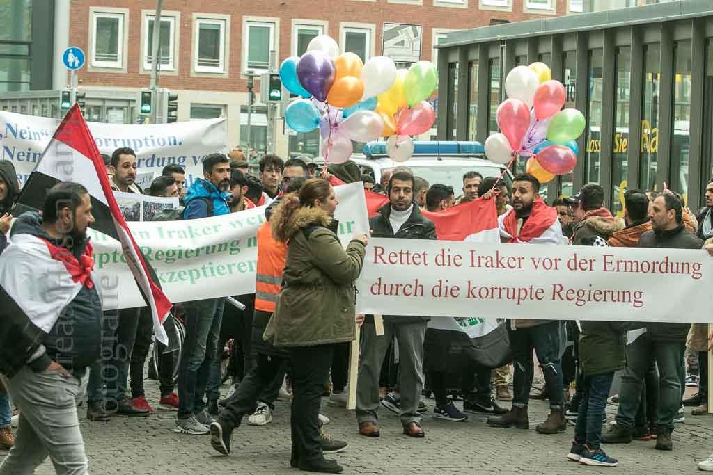 """Demonstration von Irakern in Münster gegen """"Massaker"""" im Irak 2"""