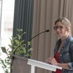 Julia Jürgens in der ESPA bei ihrer Rede.