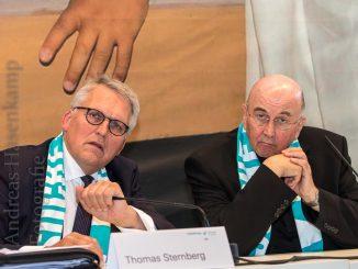 Professor Thomas Sternberg und Bischof von Münster Felix Genn