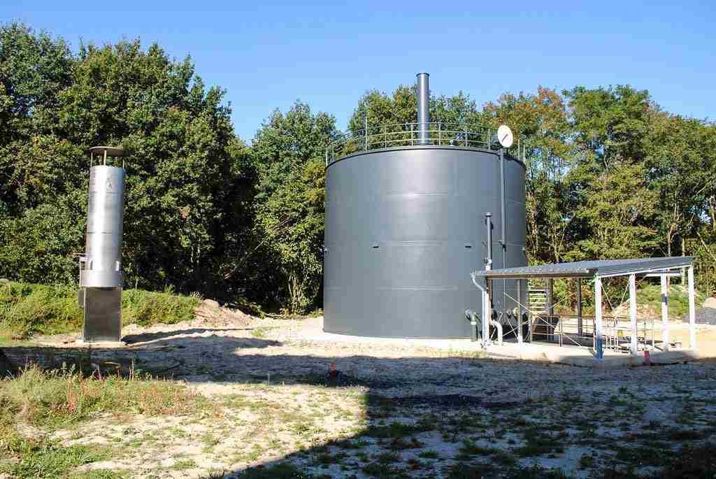 Neuer Gasbehälter auf Hauptkläranlage Münster in Betrieb 1