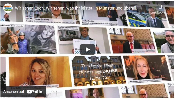 """Video """"Münster sagt Danke"""" zum Tag der Pflege"""