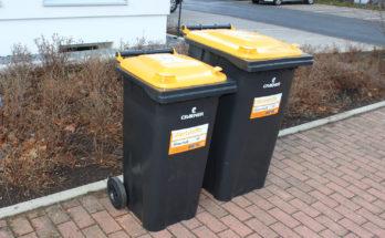 : Die neue Wertstofftonne mit dem gelben Deckel: Welche Größe ist passend?Foto: Stadt Münster.