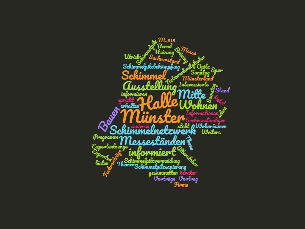Schimmelnetzwerk Münster informiert auf der Messe Bauen & Wohnen Experten beraten an Messeständen