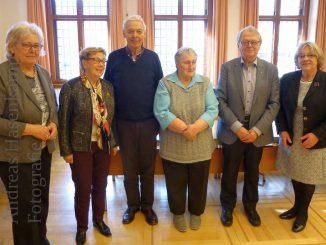 Sechs Wahlvorbereiter zur Seniorenvertretung. Foto: Stadt Münster