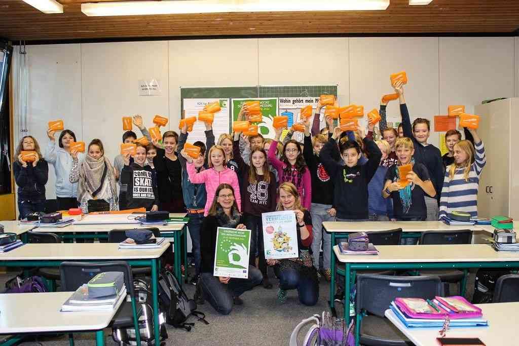 Kant-Gymnasium verbannt Brötchentüten Gemeinsame Aktion mit den AWM zur Europäischen Woche der Abfallvermeidung