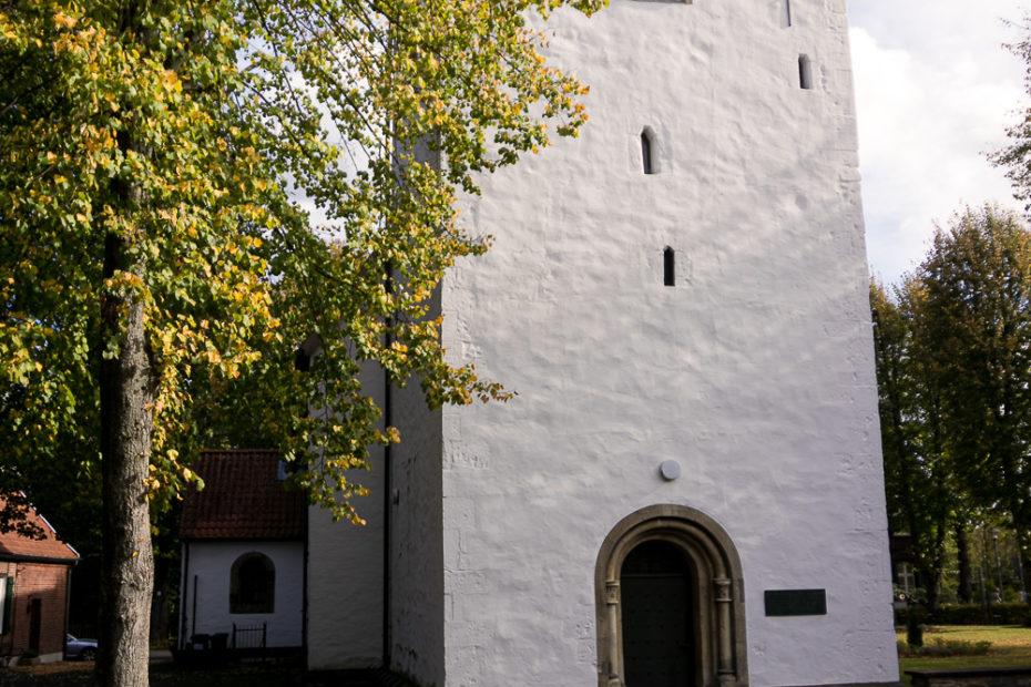 Turm der Kirche St. Agatha in Angelmodde-Dorf. Foto: A. Hasenkamp.