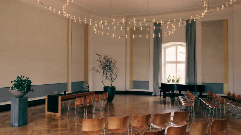 Der Schlaun-Saal im Standesamt Müsnter im Lotharinger Kloster. Foto: Stadt Münster.