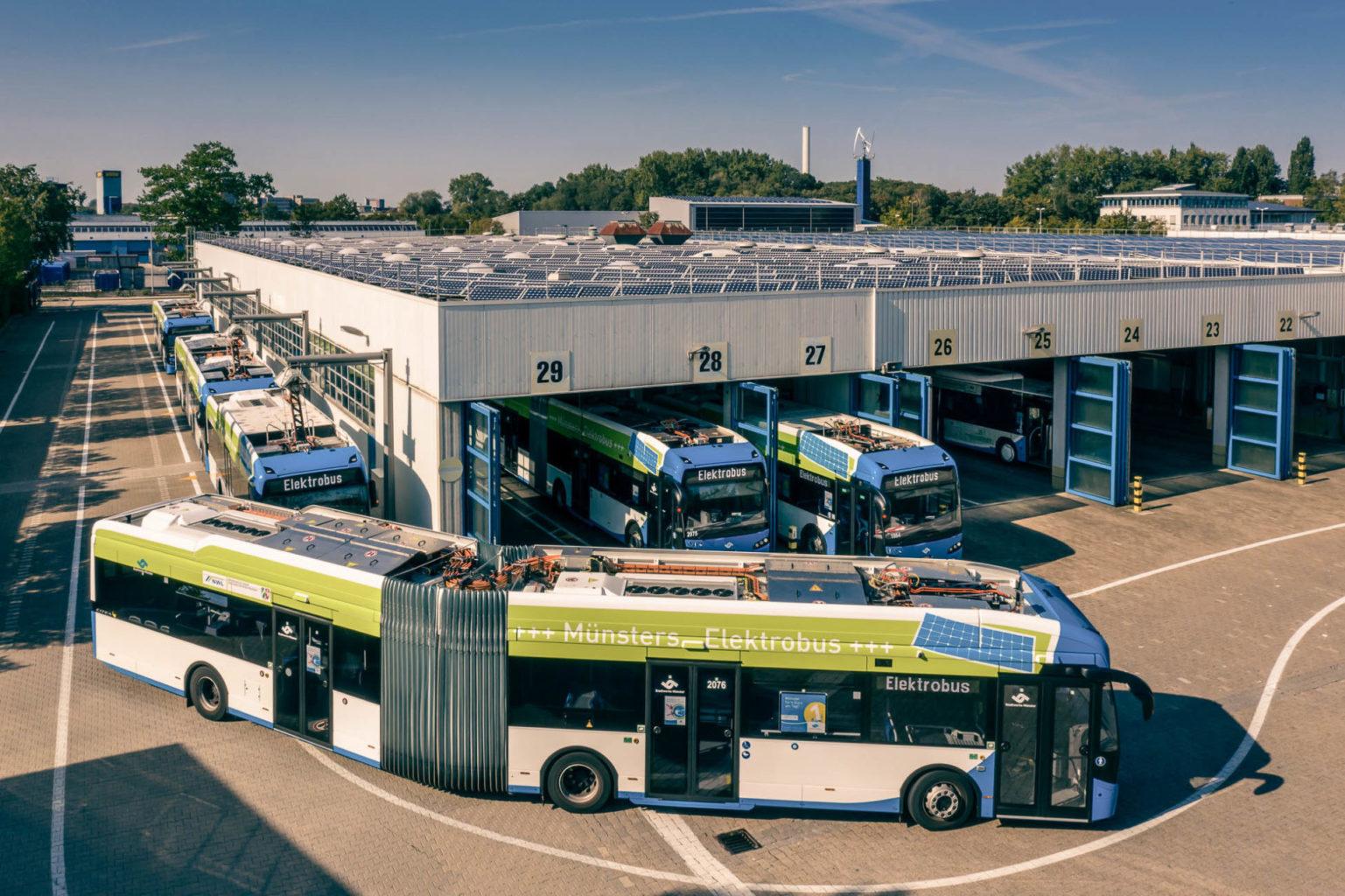 Klimaschonend und leise: Sechs neue Elektrobusse für die Stadtwerke Münster