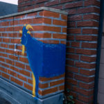 Stromkasten an der Pewo-Straße mit Ziegenmotiv. Foto: A. Hasenkamp.