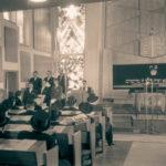 Das Gemeindezentrum entstand an der Stelle, an der sich bis zur Pogromnacht am 9. November 1938 die alte Synagoge befunden hatte. Foto: Stadt Münster, Sammlung Stadtmuseum / Hänscheid.