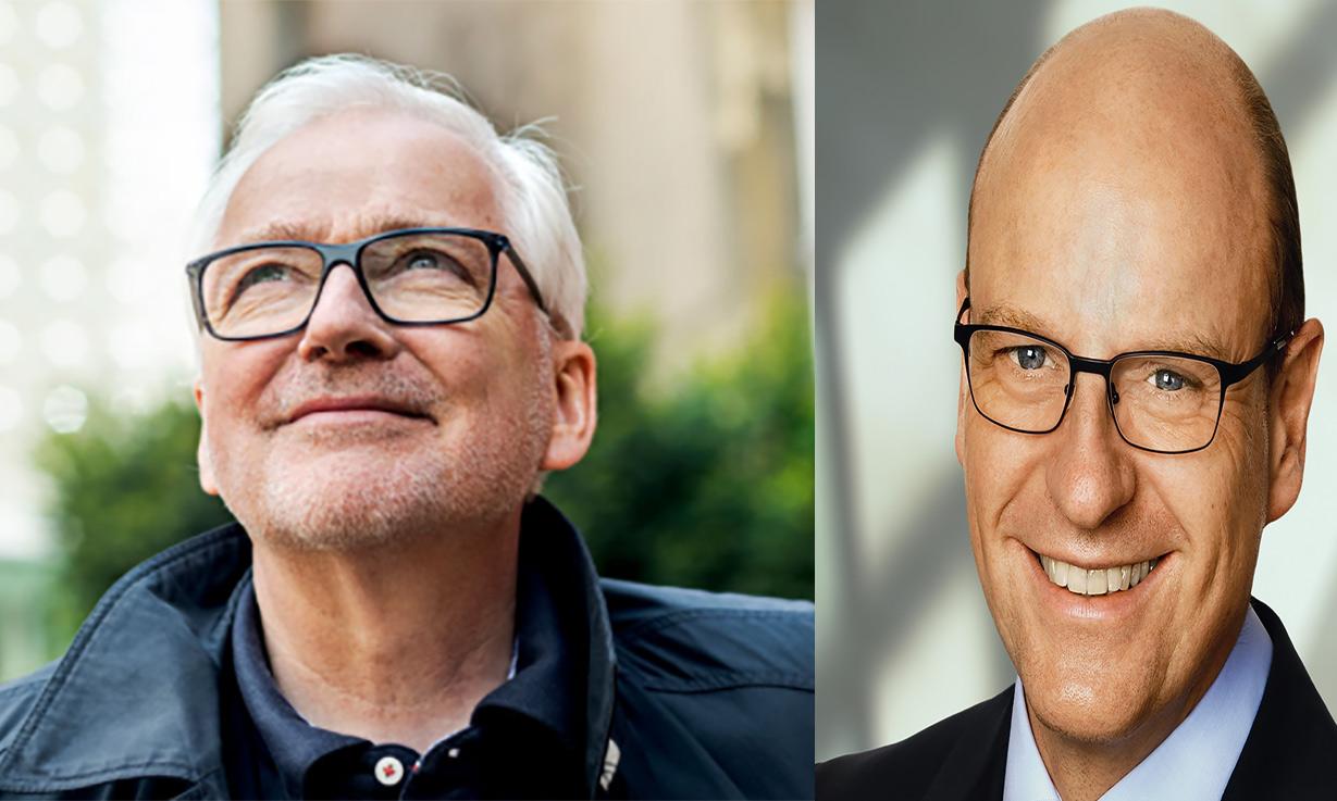 Portraits der Konkurrenten Peter Todeskino (links) und Markus Lewe.