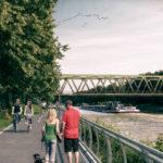 Radweg am Kanal: Vollsperrung für den Ausbau ab 18. Mai 2021