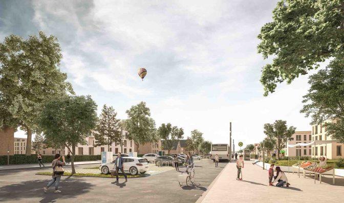 Busse, Parkplätze mit Elektro-Ladestationen und natürlich Fahrräder: Mobilität