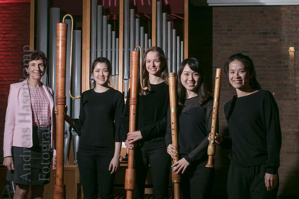 Quartett Bux begeistert mit Flöten-Quartett Konzert von KulturVorOrt Wolbeck von Lesung ergänzt